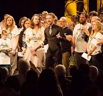 Mark with team at 2013 event